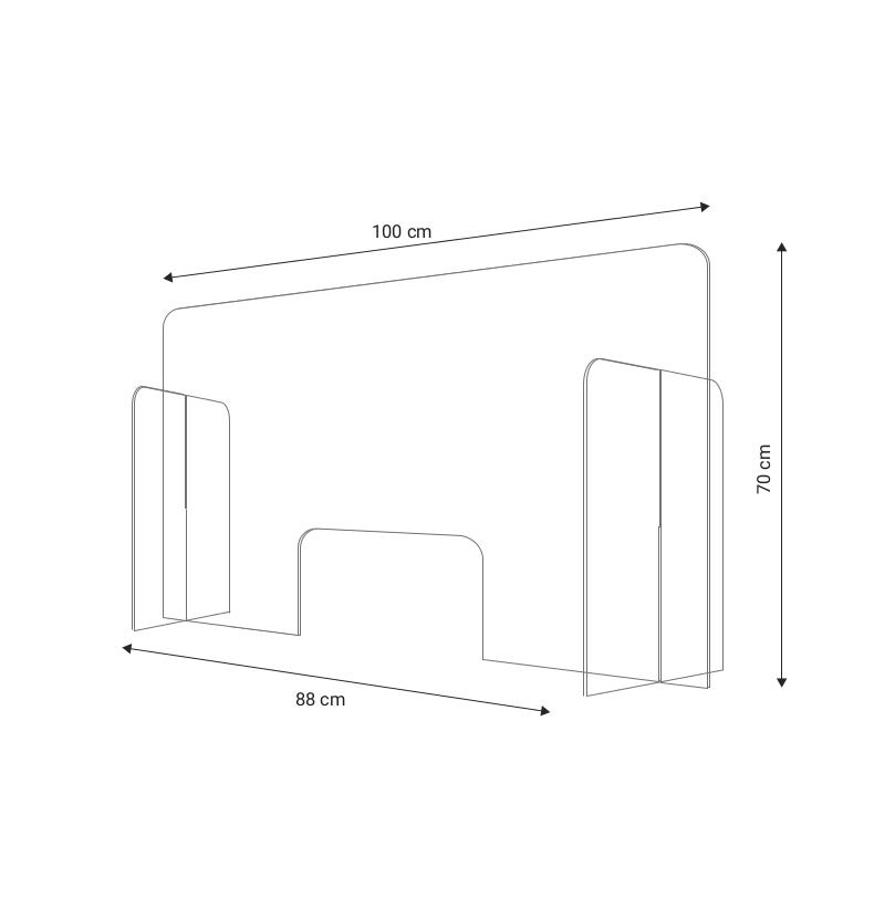 Plexi - płyta stojąca z bokami