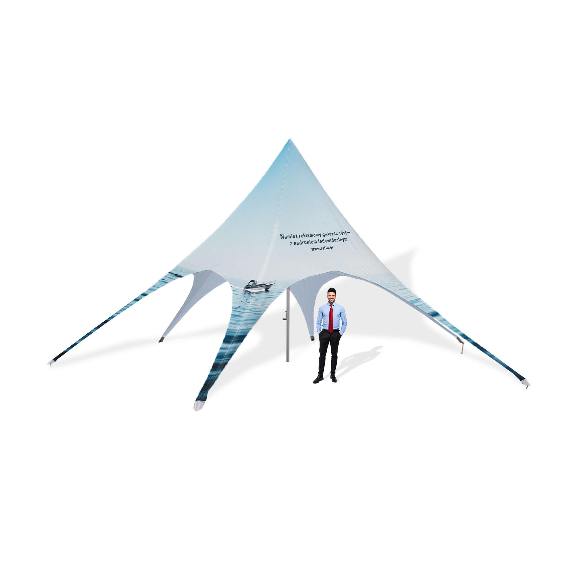 Namiot reklamowy gwiazda 10x5m z nadrukiem indywidualnym