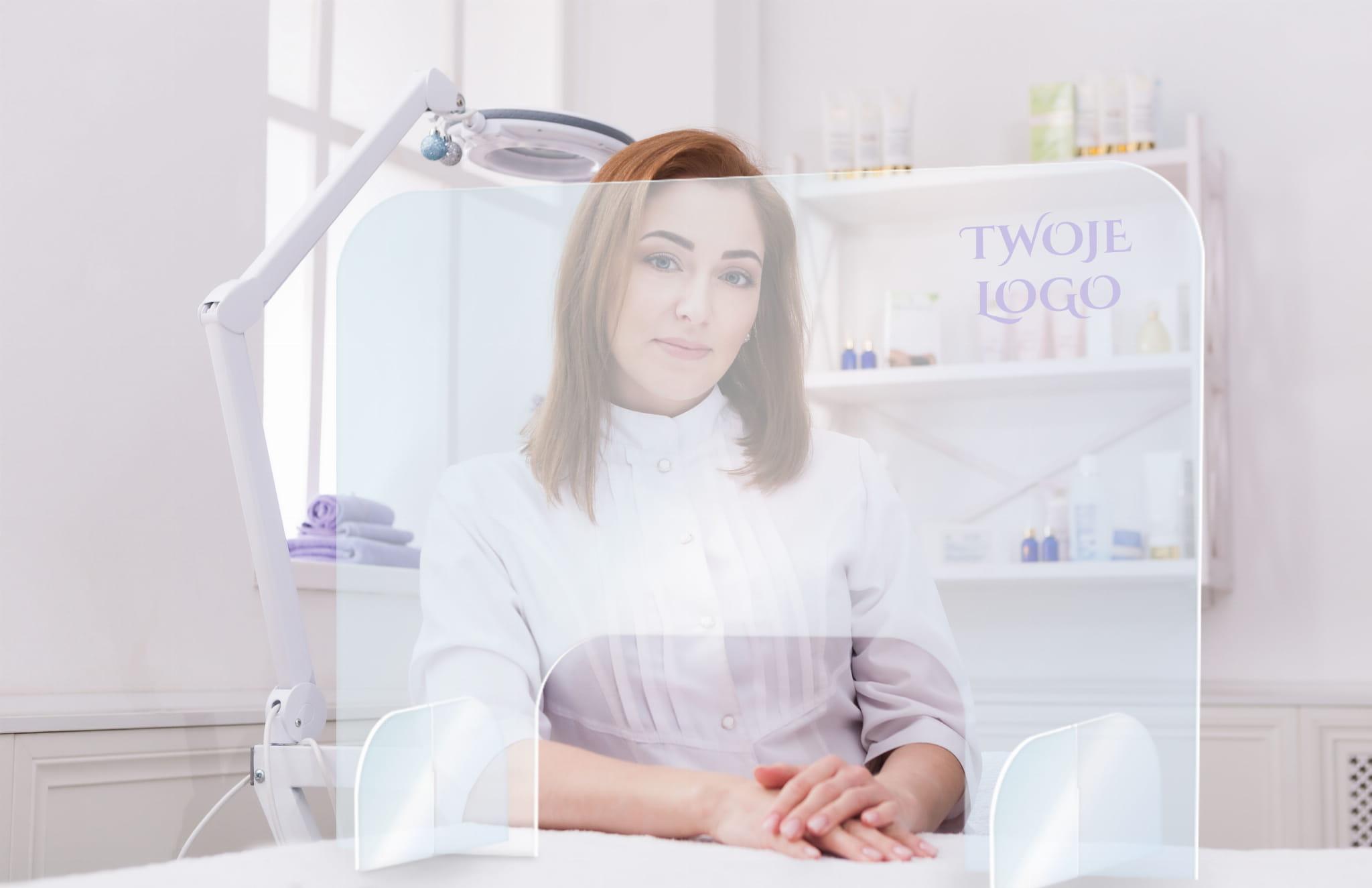 Szyba Ochronna Pleksi dla Kosmetyczki